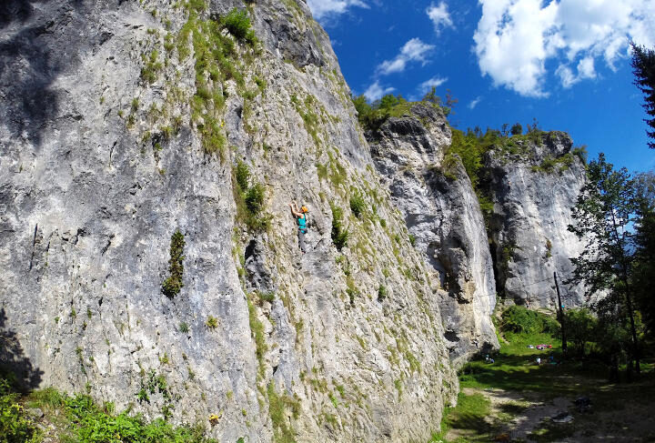 Climbing in Bled, Slovenia